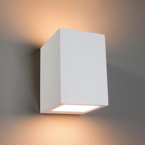 Hoekige halogeenwandlamp Zaio, beschilderbaar