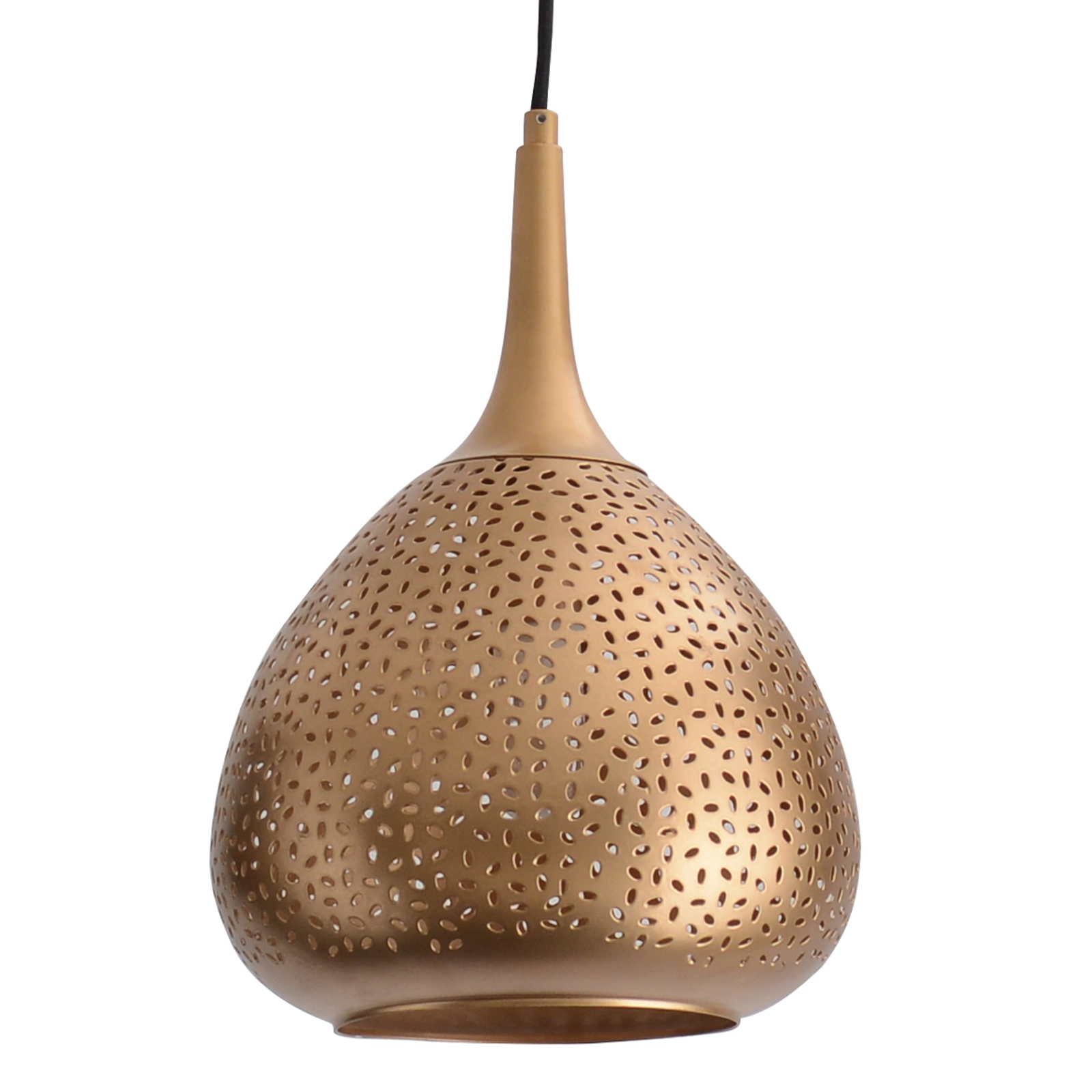 Złota lampa wisząca Chiara