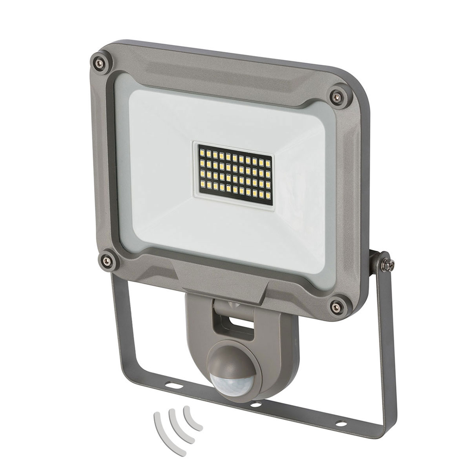 LED buitenspot Jaro met sensor IP44 30W