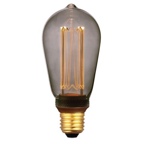 LED-rustiklampa E27 5W, 1800 K 3-step-dim, smoke