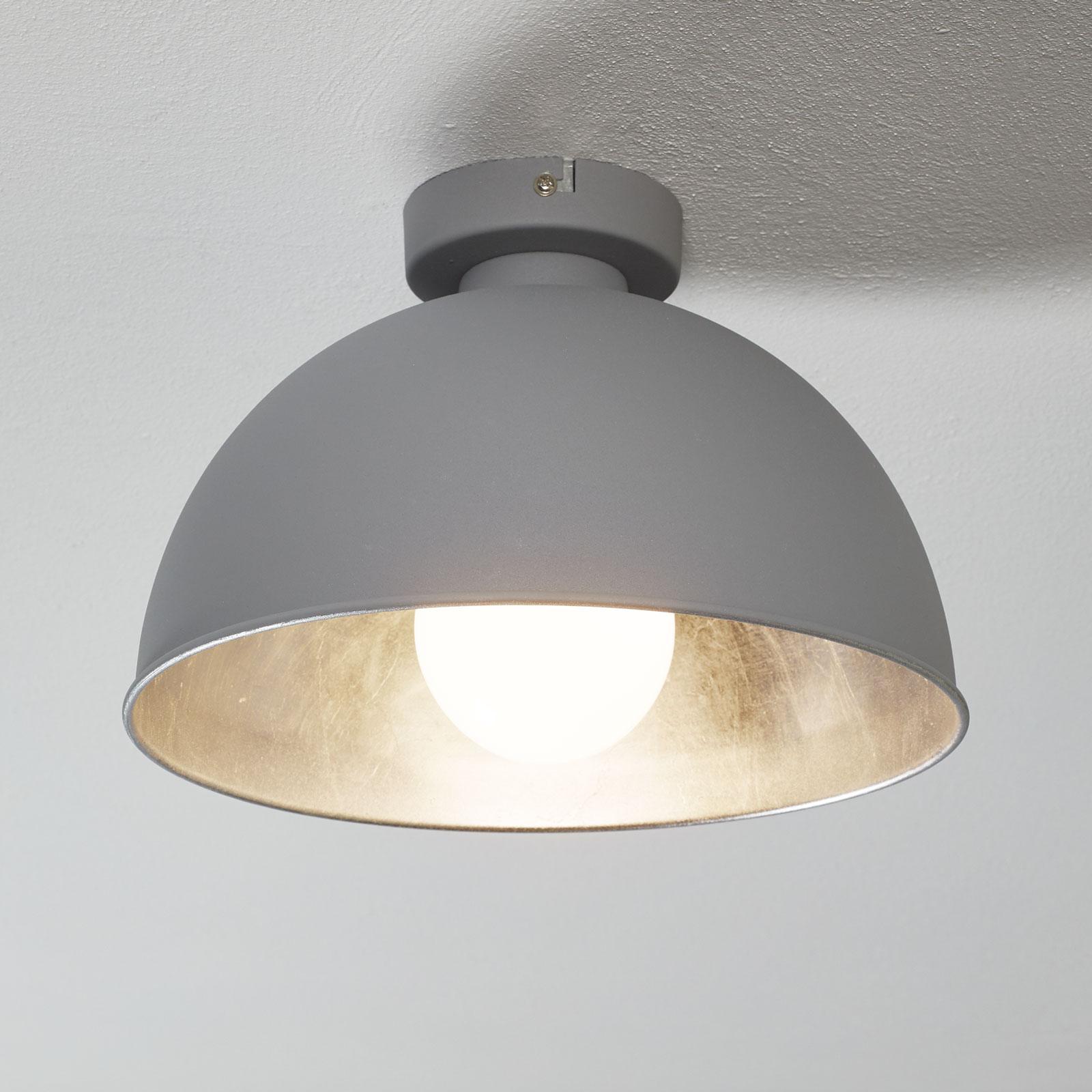 Metalowa lampa sufitowa JIMMY, szara/srebrna