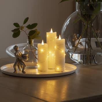LED-vahakynttilä creme, valoväri meripihka