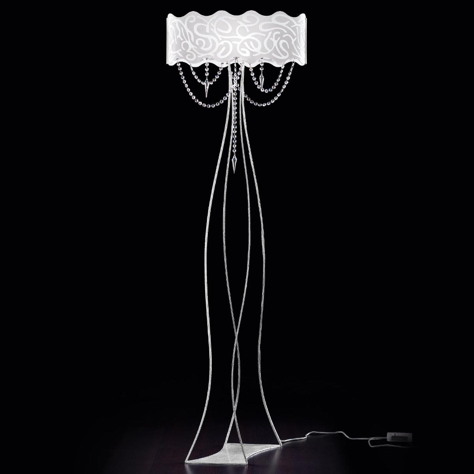Lampa stojąca MAREA ze zwisającymi kryształami