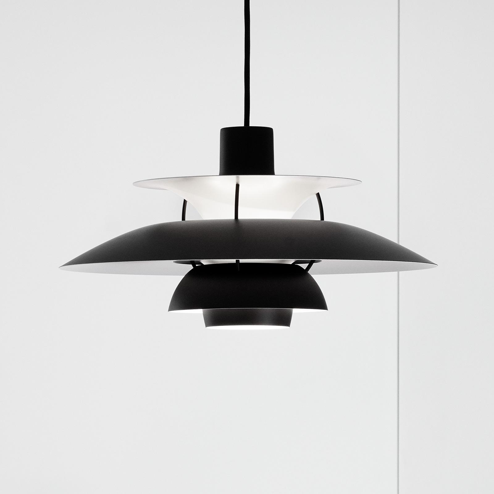 Louis Poulsen PH 5 hængelampe, monokrom sort