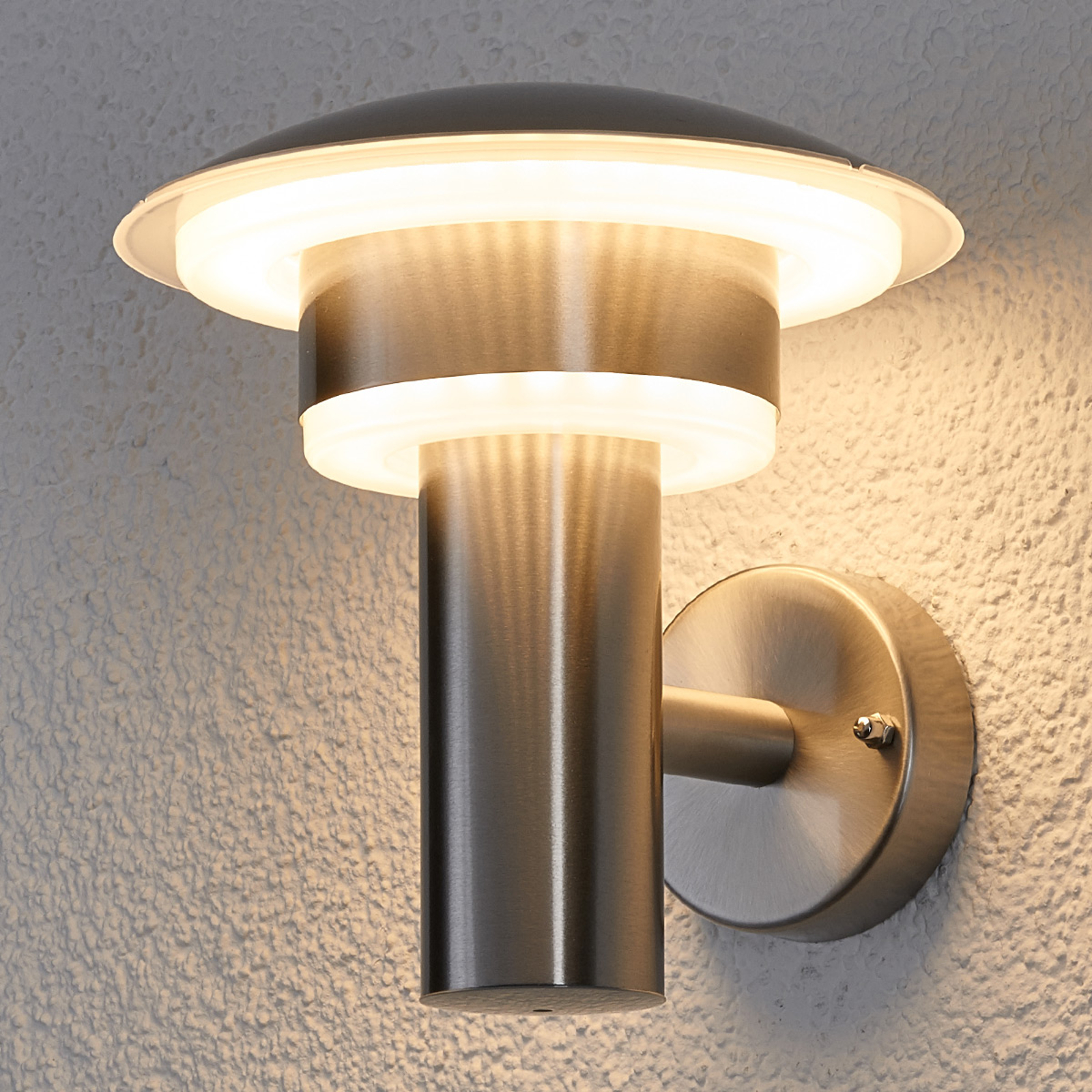 Dekorativt LED-utevegglys Lillie i rustfritt stål