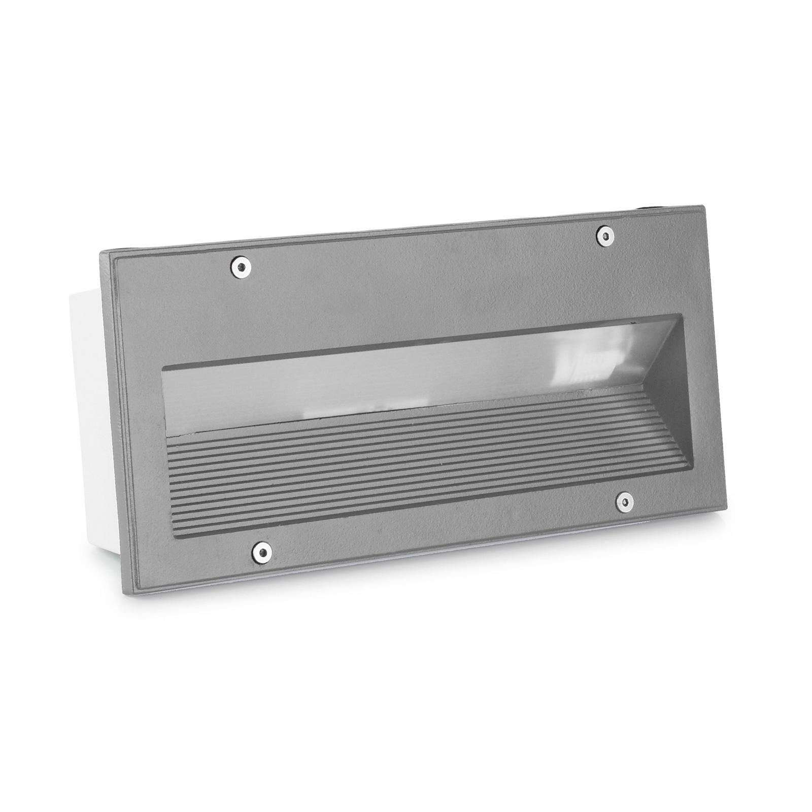 LEDS-C4 Micenas Einbauleuchte, 25,5x11,5 cm, grau