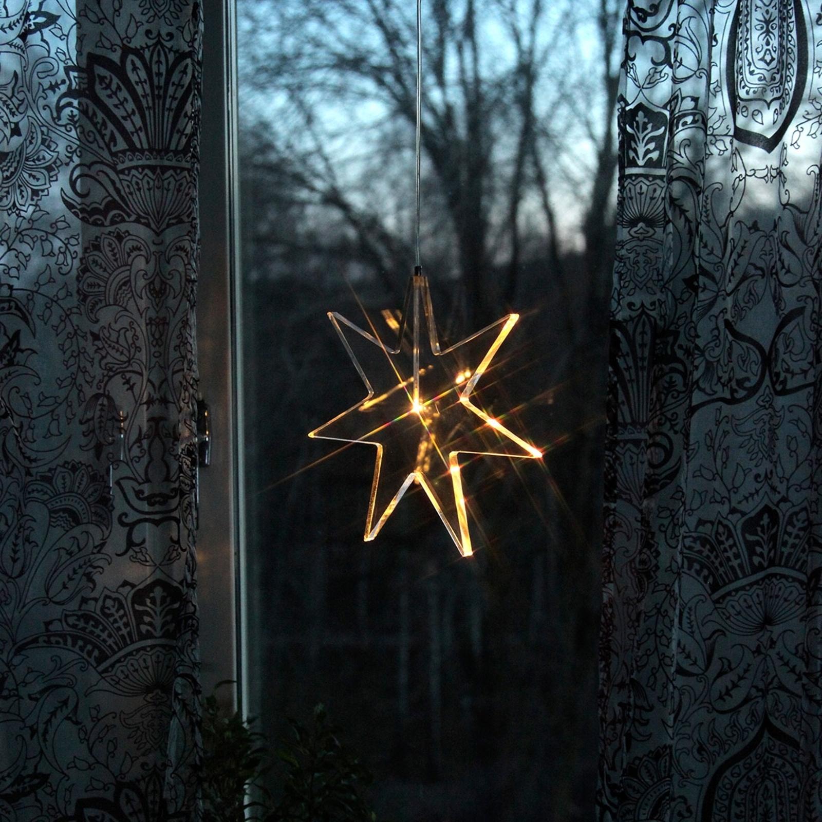 Transparent LED-stjärna - dekorationslampa Karla