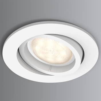 Spot da incasso LED Shellbark bianco Warmglow