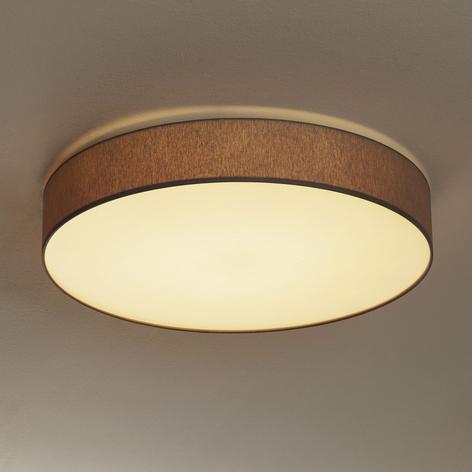 Lámpara LED techo Luno atenuable, gris claro