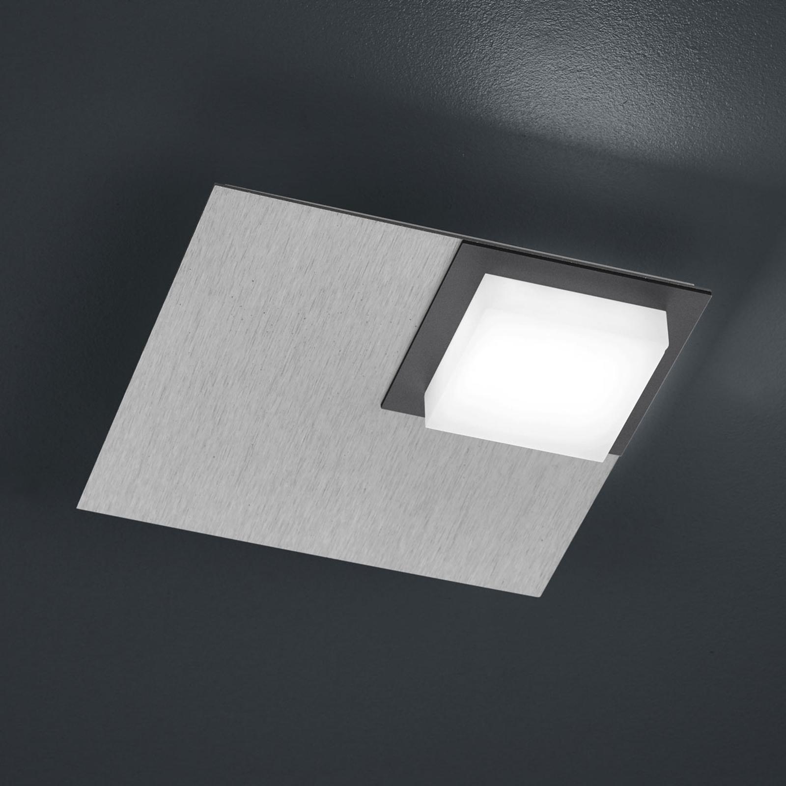 BANKAMP Quadro plafoniera LED 8W argento