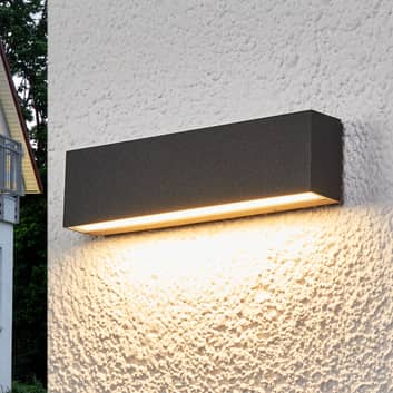 LED-Außenwandlampe Elvira, graphitgrau