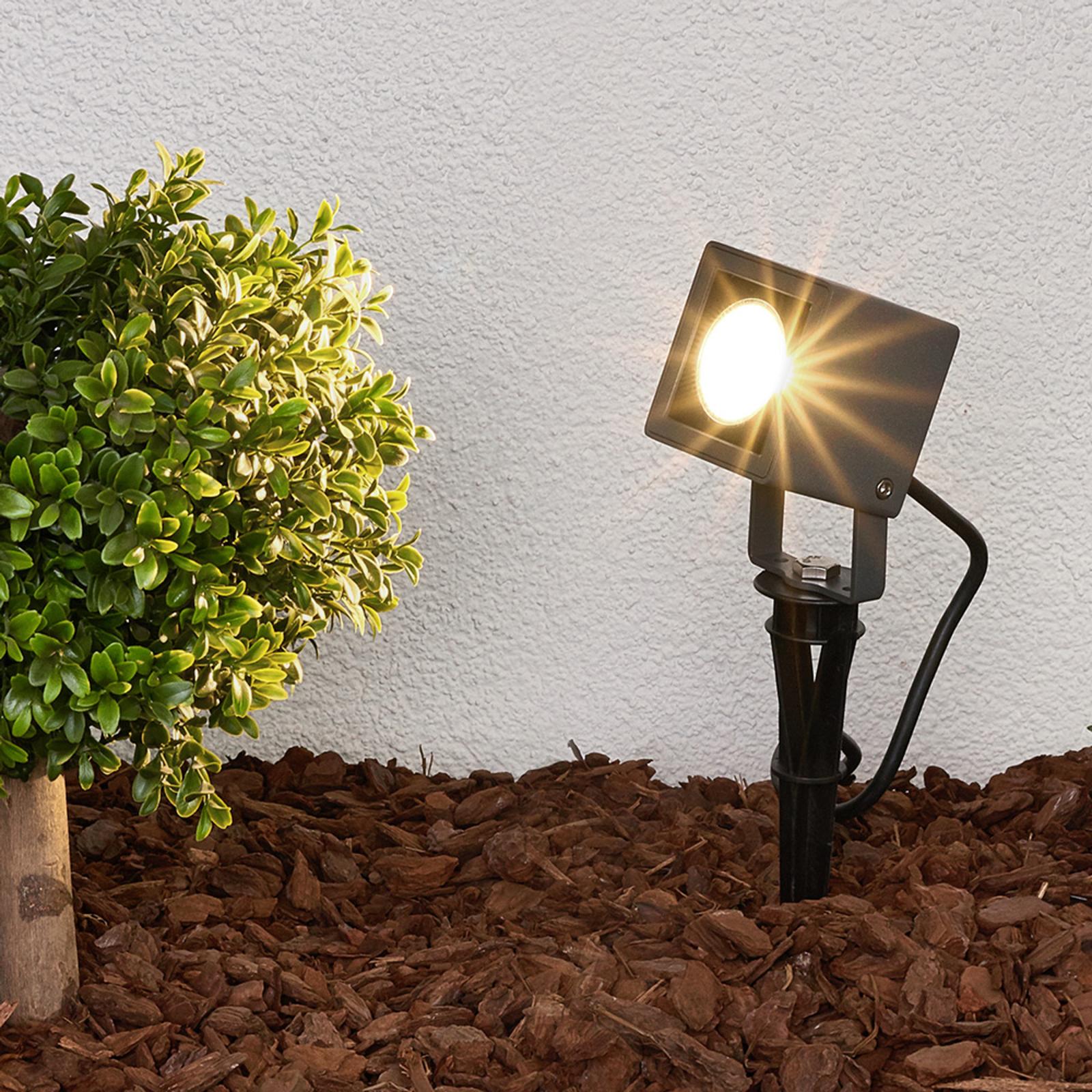 Lampa JIADA z grotem ziemnym i LED