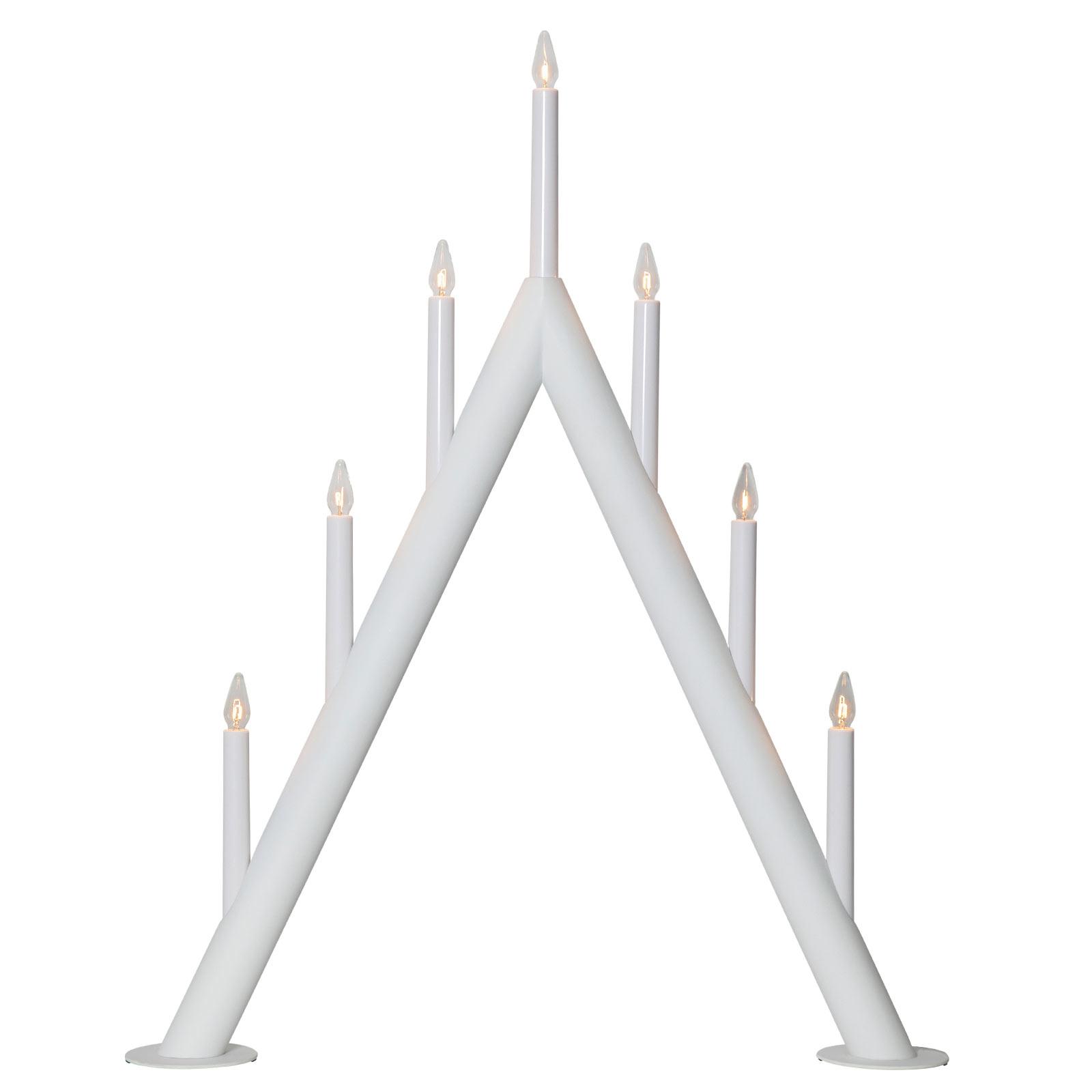 Kerzenleuchter Circum, spitz, 7flammig, weiß