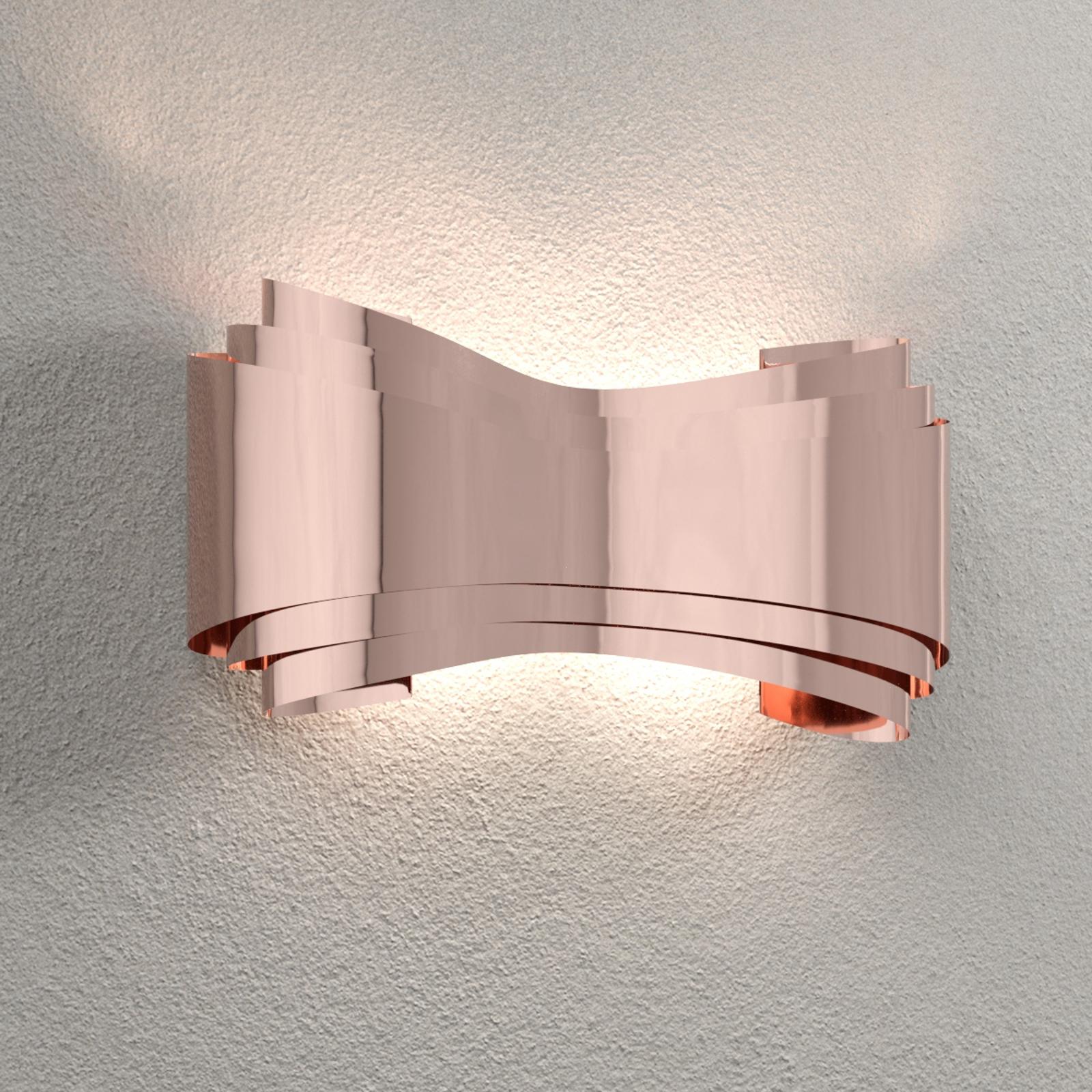 Ionica - kupferfarbene LED-Designer-Wandleuchte