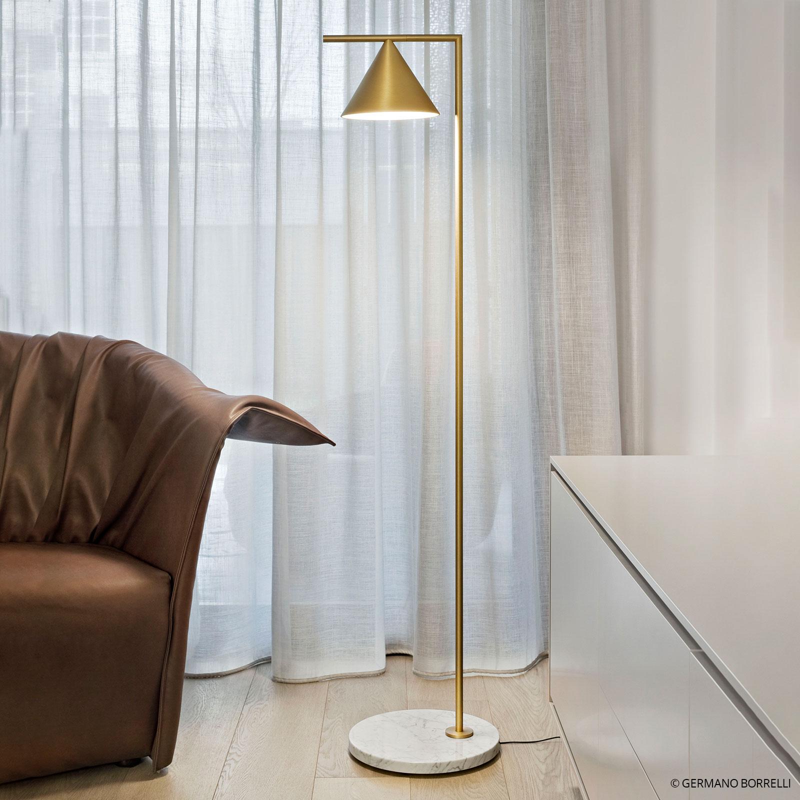 FLOS Captain Flint lampadaire LED, laiton