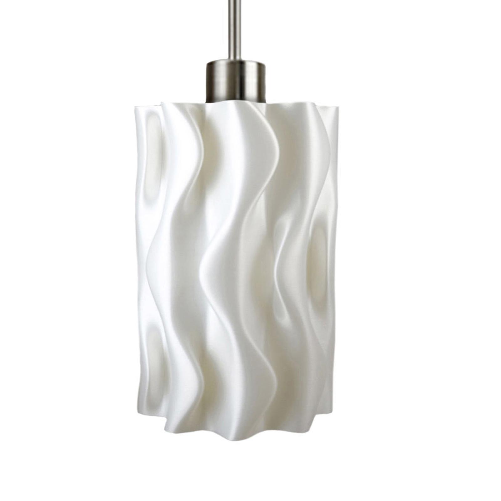 Amöbe hængelampe, 3D-printet, hvid