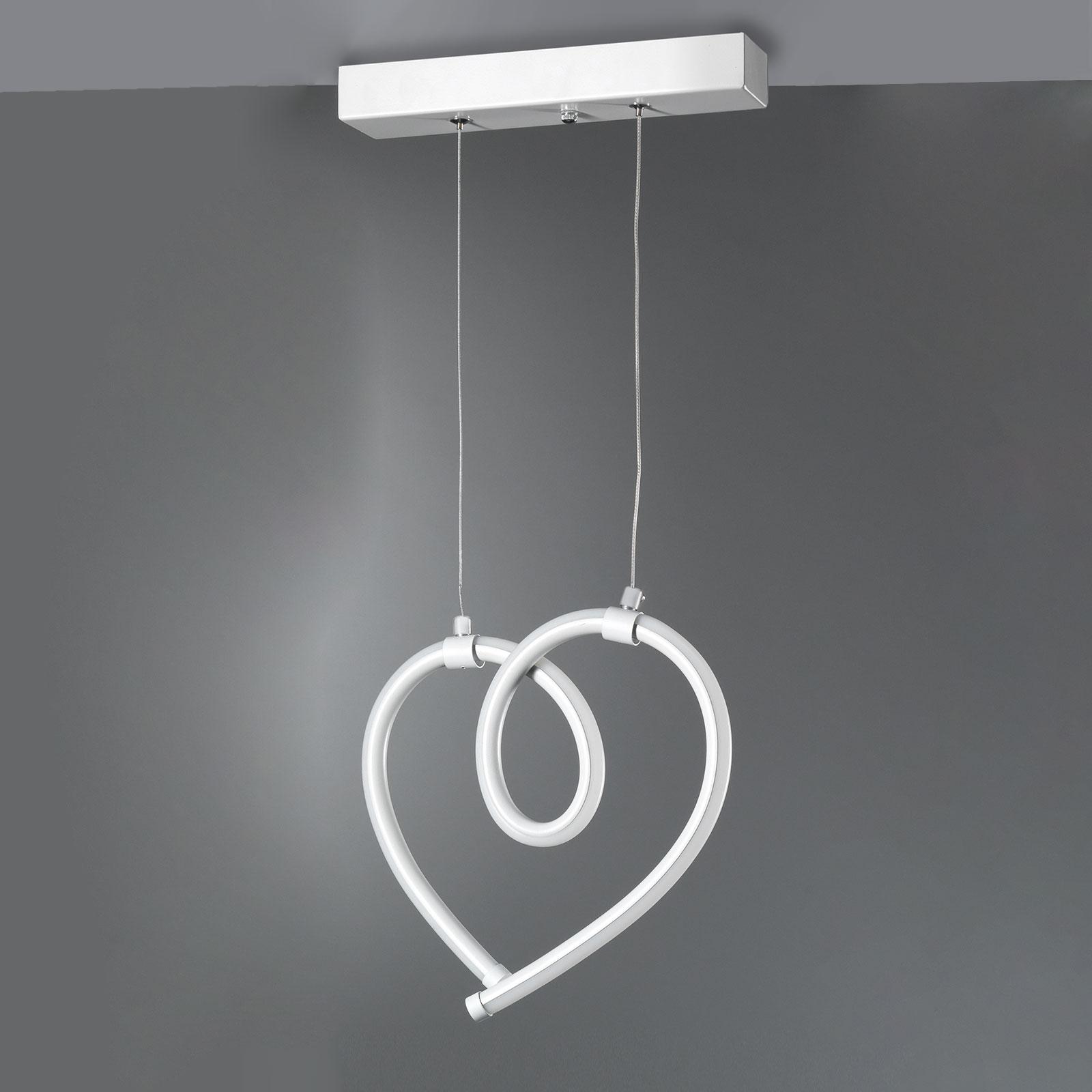 Cuoricini LED-hengelampe med et hjerte, 26 cm