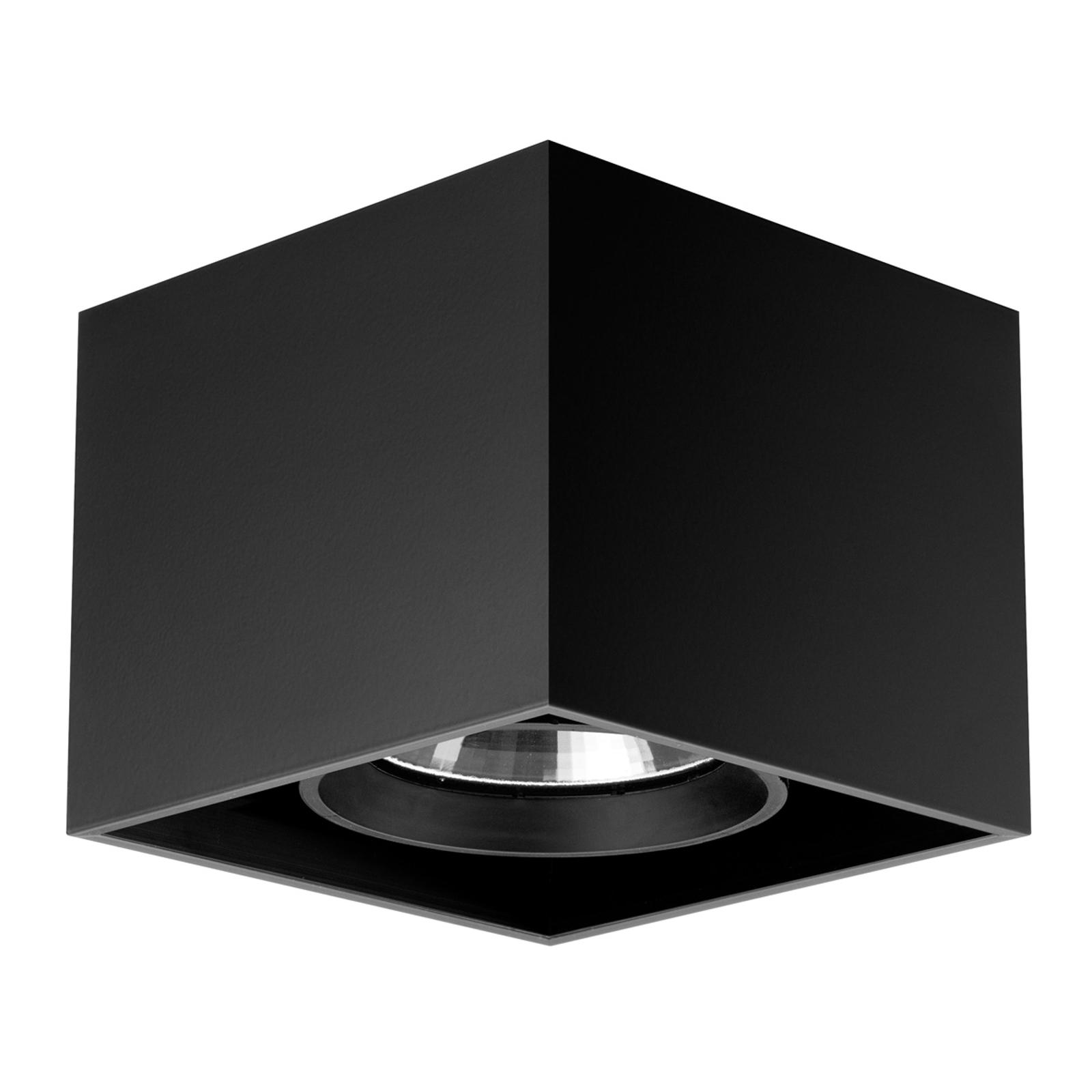 Compass Box - kvadratisk taklampe i svart