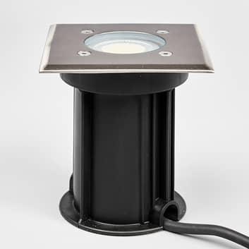 Eckige Edelstahl-Bodeneinbaulampe Insa, IP67