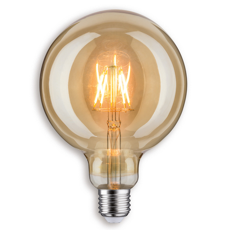 Bombilla globo LED G125 E27 6,5W 817 dorada
