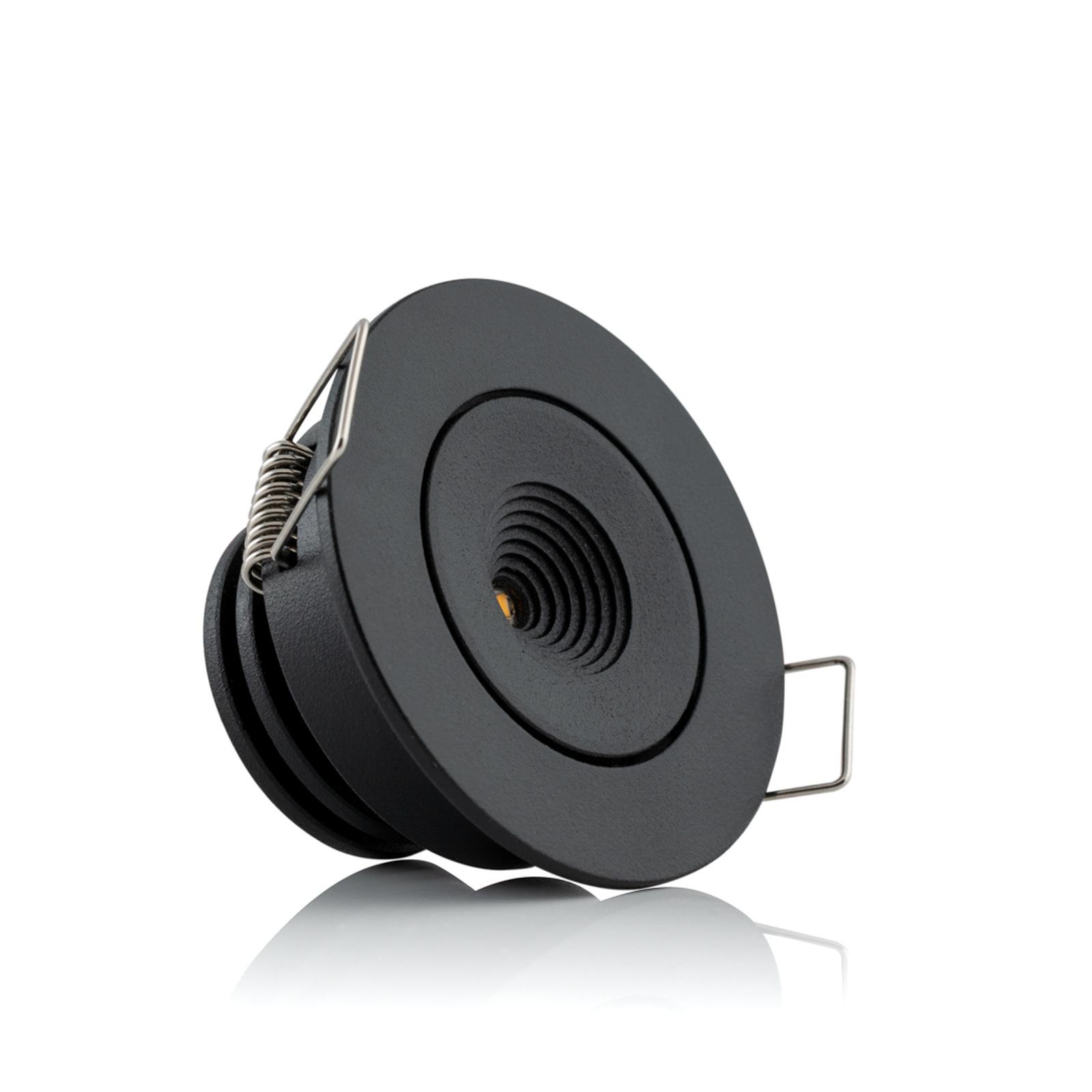 SLC MiniOne Tilt LED-Einbauleuchte schwarz 3.000 K