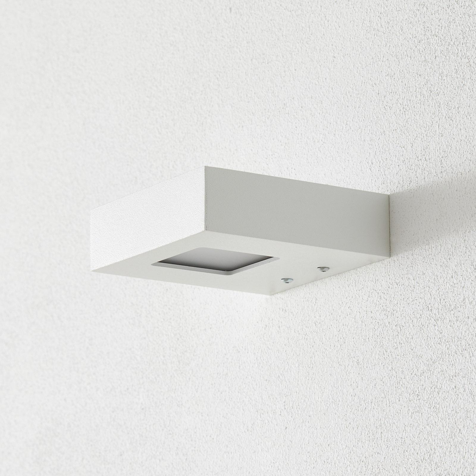 Witte LED-wandspot Cubus