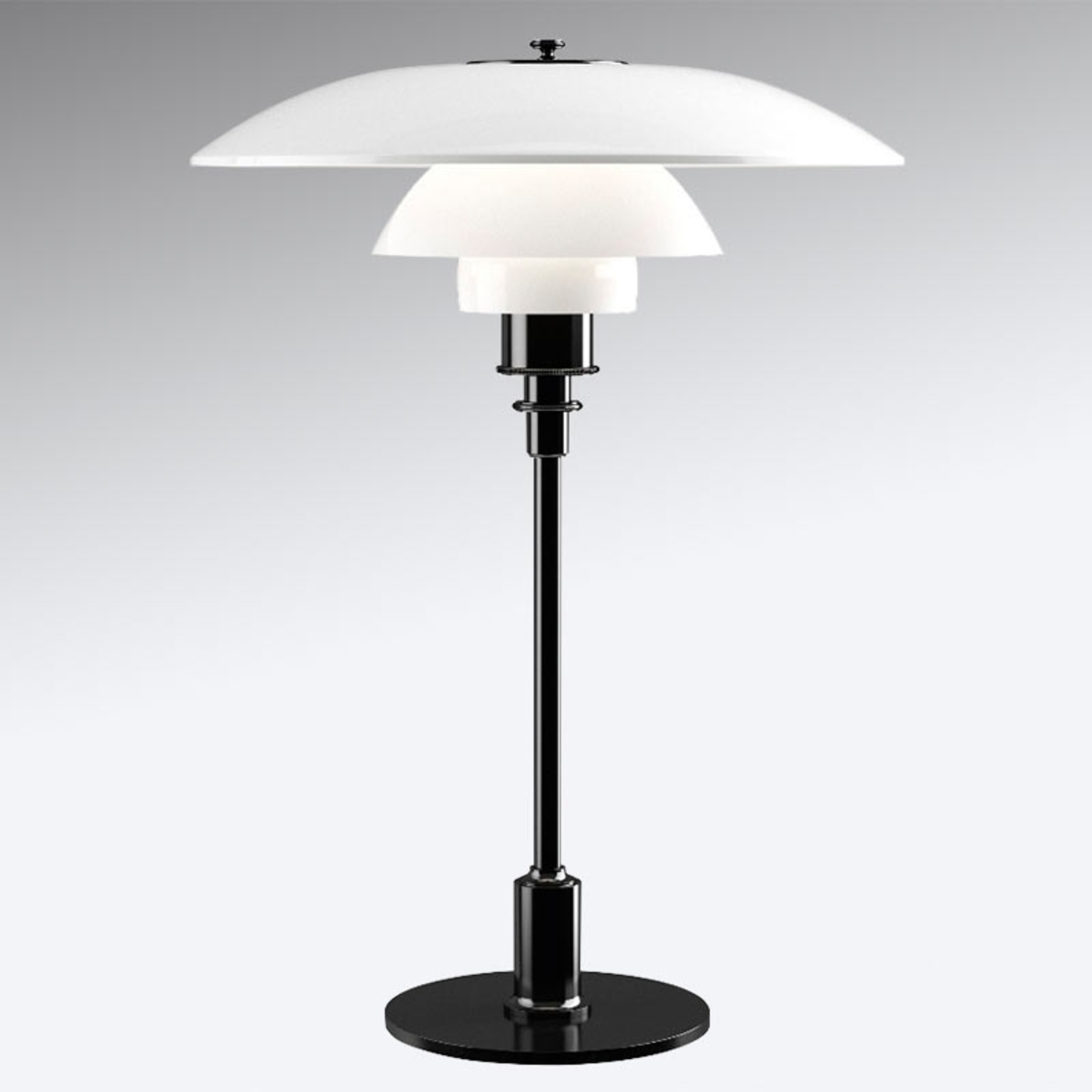 Tafellamp PH 3 1/2-2 1/2 - voet zw. gemetalliseerd