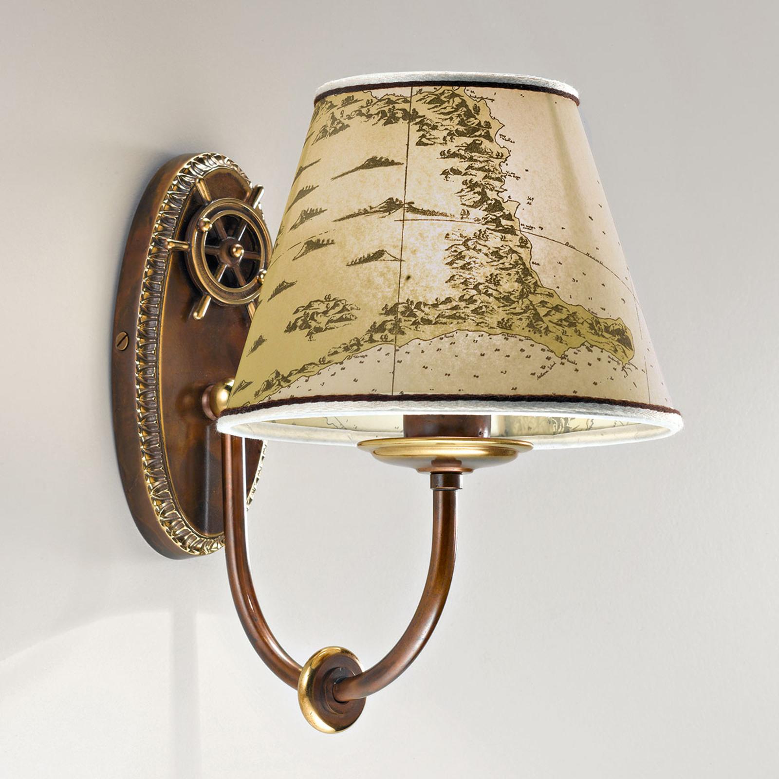 Vägglampa Nautica i maritim stil, enarmad, 25 cm