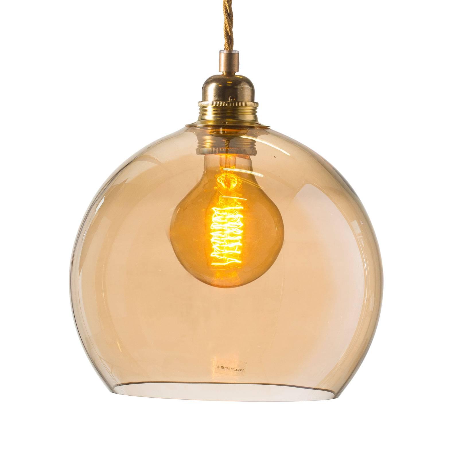 EBB & FLOW Rowan hanglamp goud/goud-rook Ø 22cm