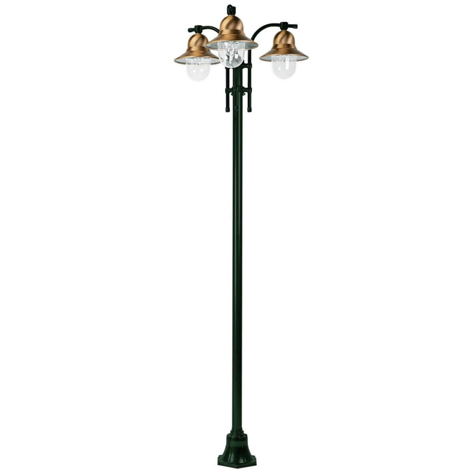 Lampadaire Toscane vert à 3 lampes