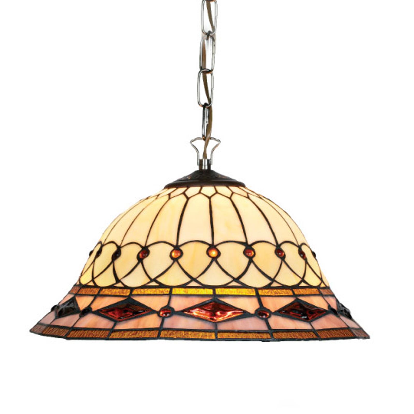 Hanging light Cassandra, Tiffany-style, 2-bulb_1032113_1