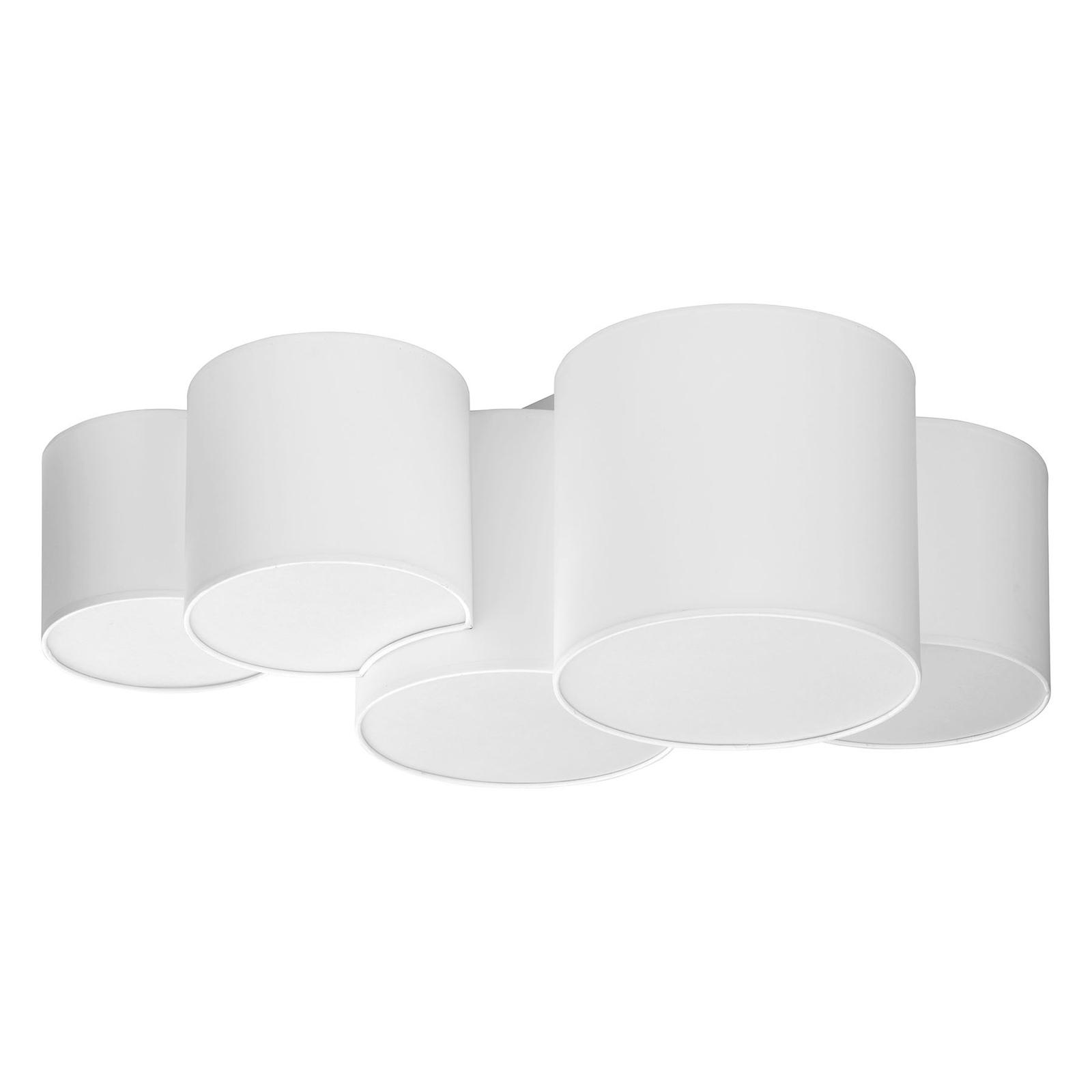 Taklampe Mona, fem lyskilder, hvit