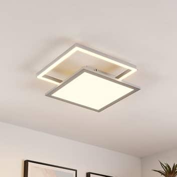 Lucande Senan plafón LED, cuadrados