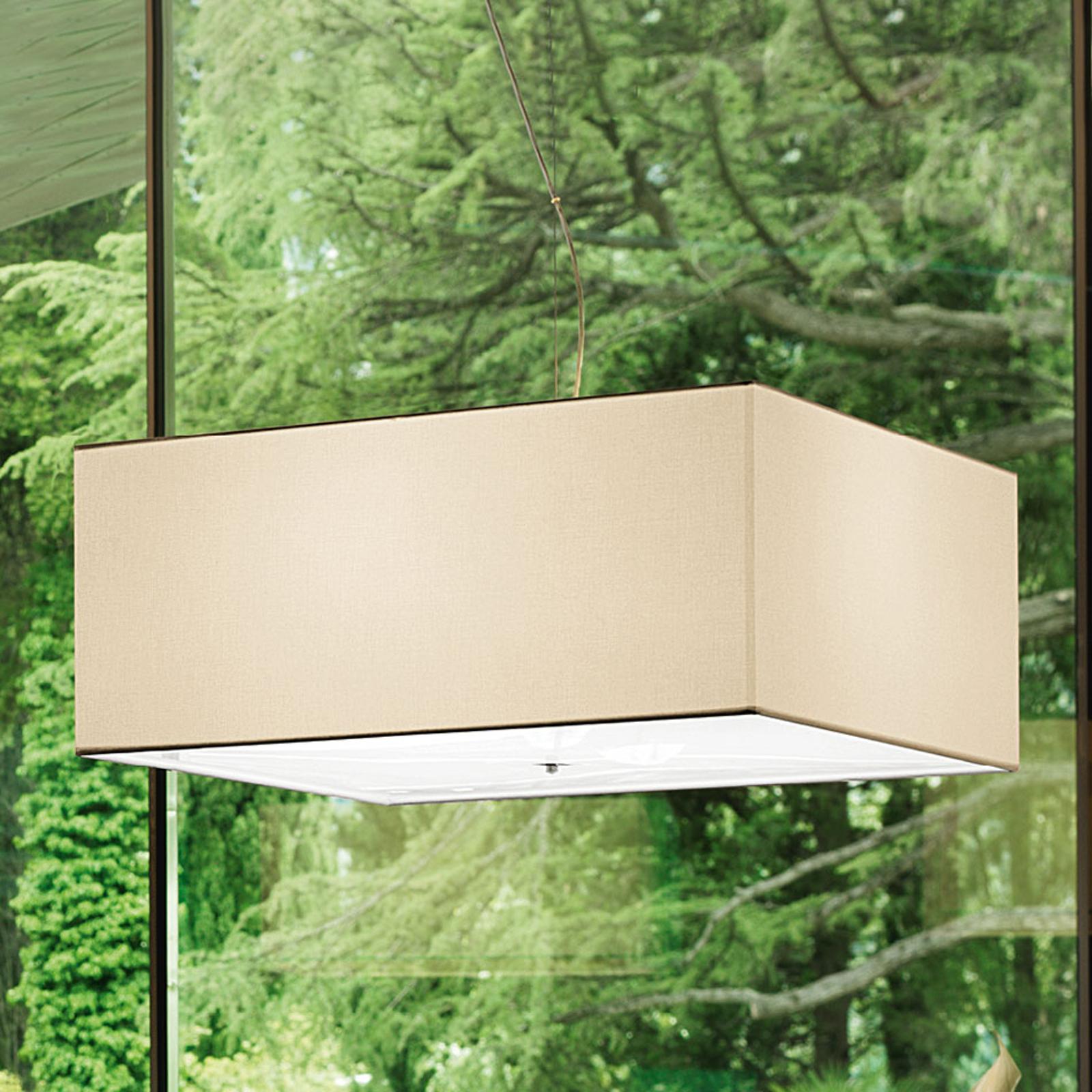 Modo Luce Quadrato suspension 50x50cm ivoire