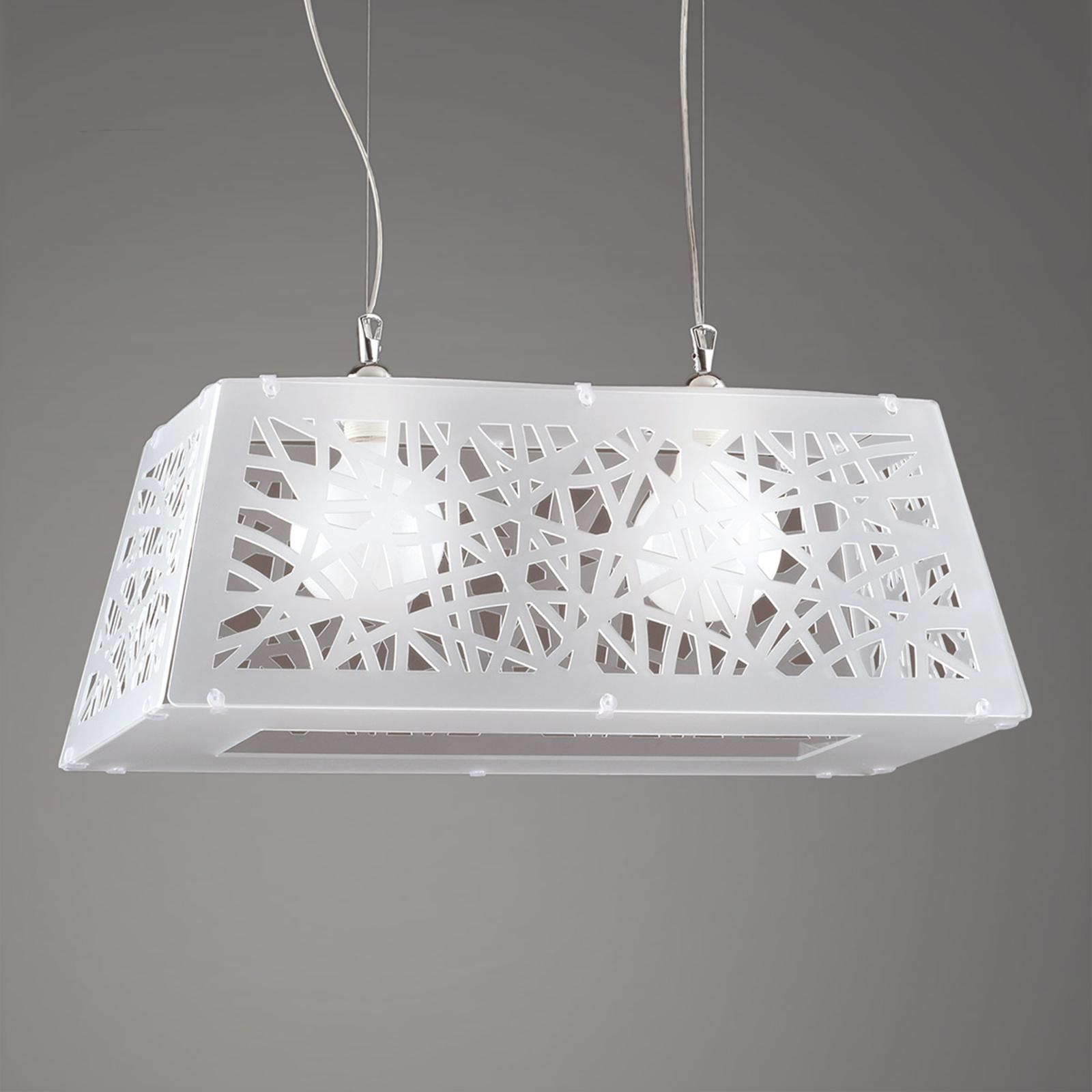 Star hængelampe med 2 lyskilder i diamant-look