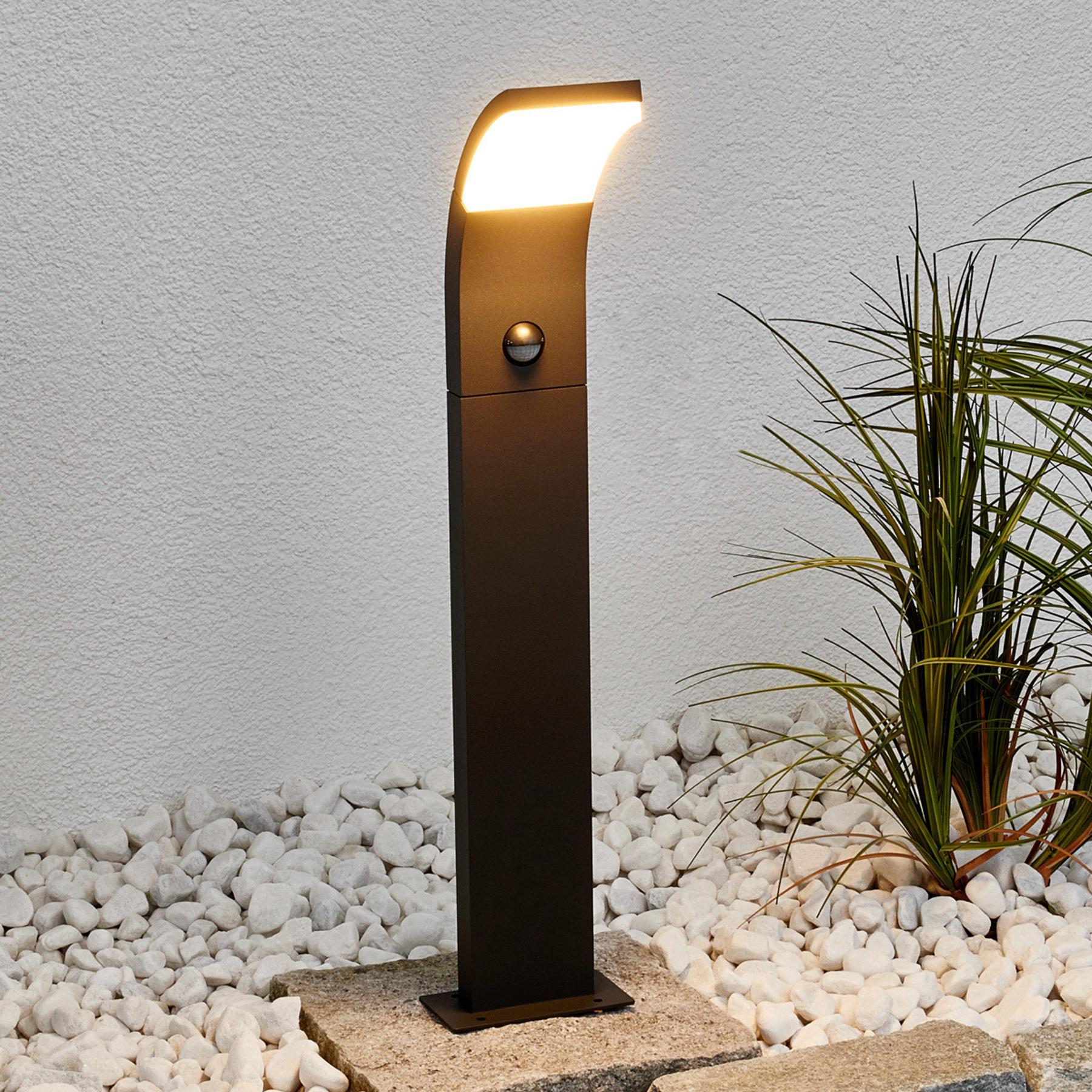 Timm - słupek ogrodowy LED z czujnikiem, 60 cm