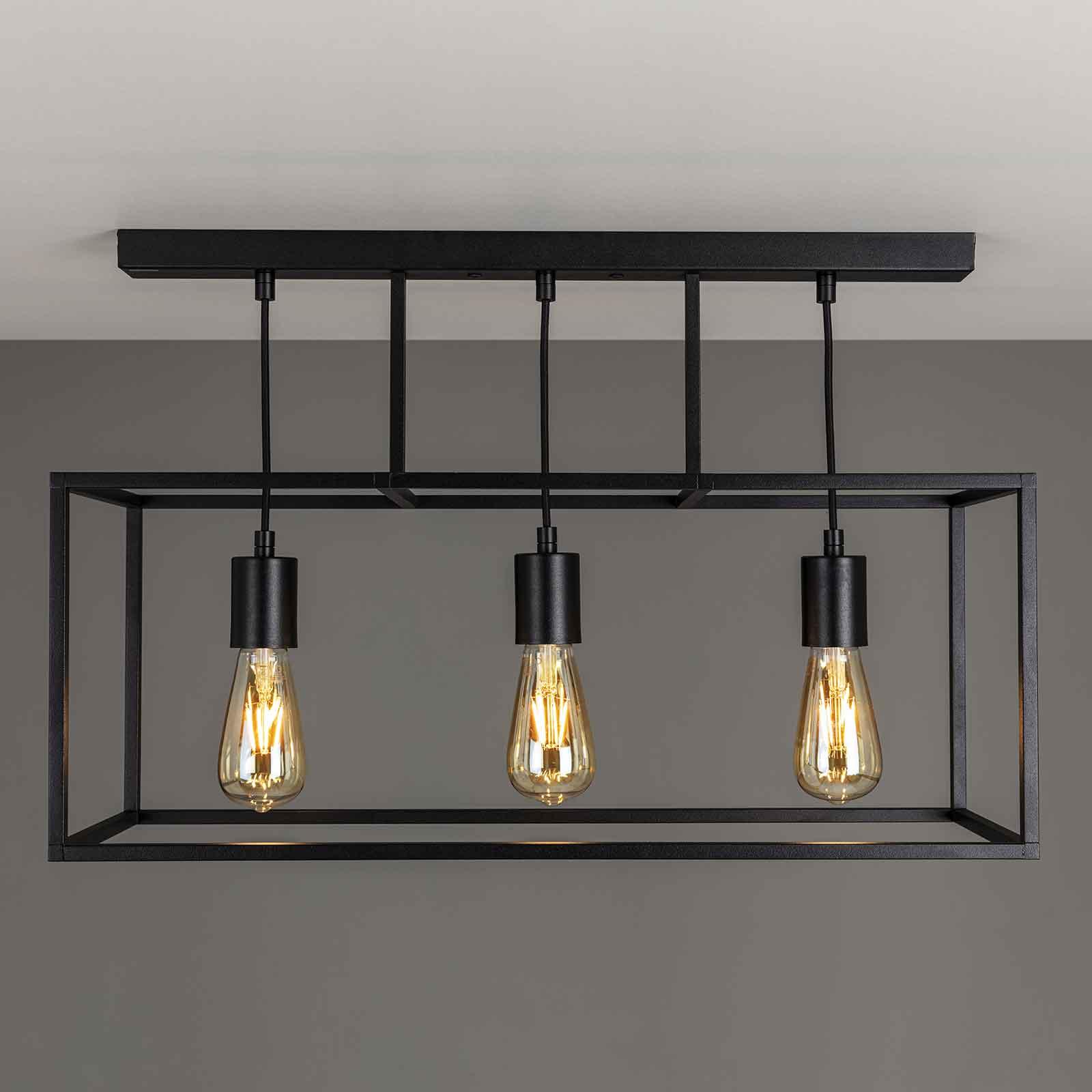 Plafondlamp Cubic³ 3384, 3-lamps, zwart