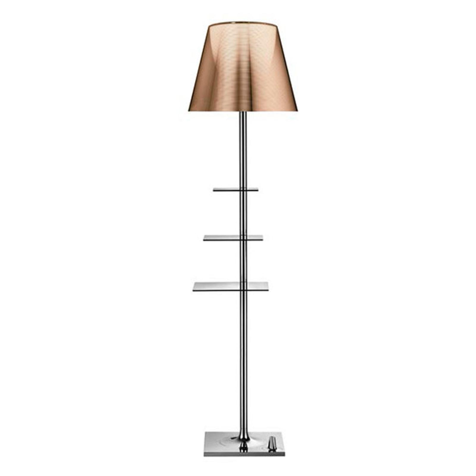 Lámp. pie de diseño Bibliotheque Nationale bronce