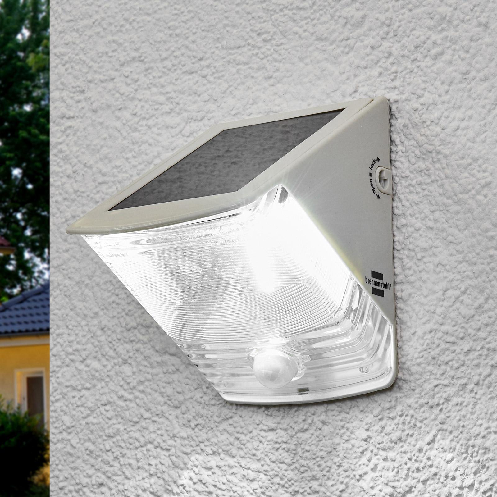 Soldriven LED-vägglampa SOL 04 IP44 vit