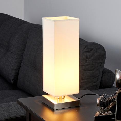 Martje - weiße Tischleuchte mit E14-LED-Lampe