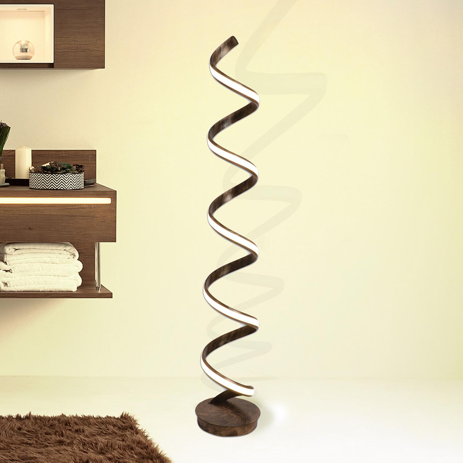 lampadaire led feltre bronze avec variateur a pied