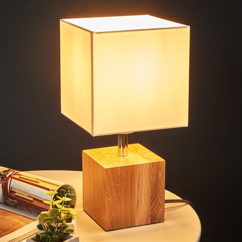 Stolní lampa Trongo krychle olejovaná stínidlo
