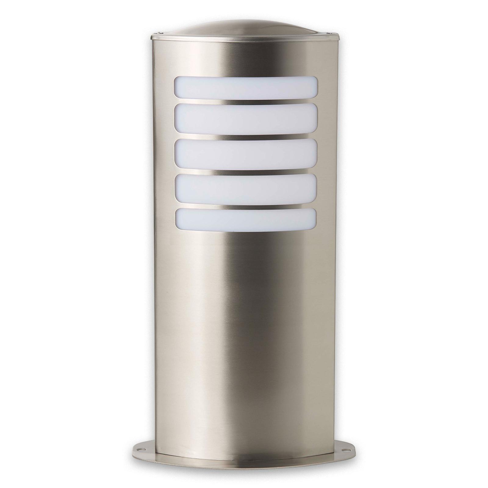 TODD - owalna lampa cokołowa ze stali szlachetnej