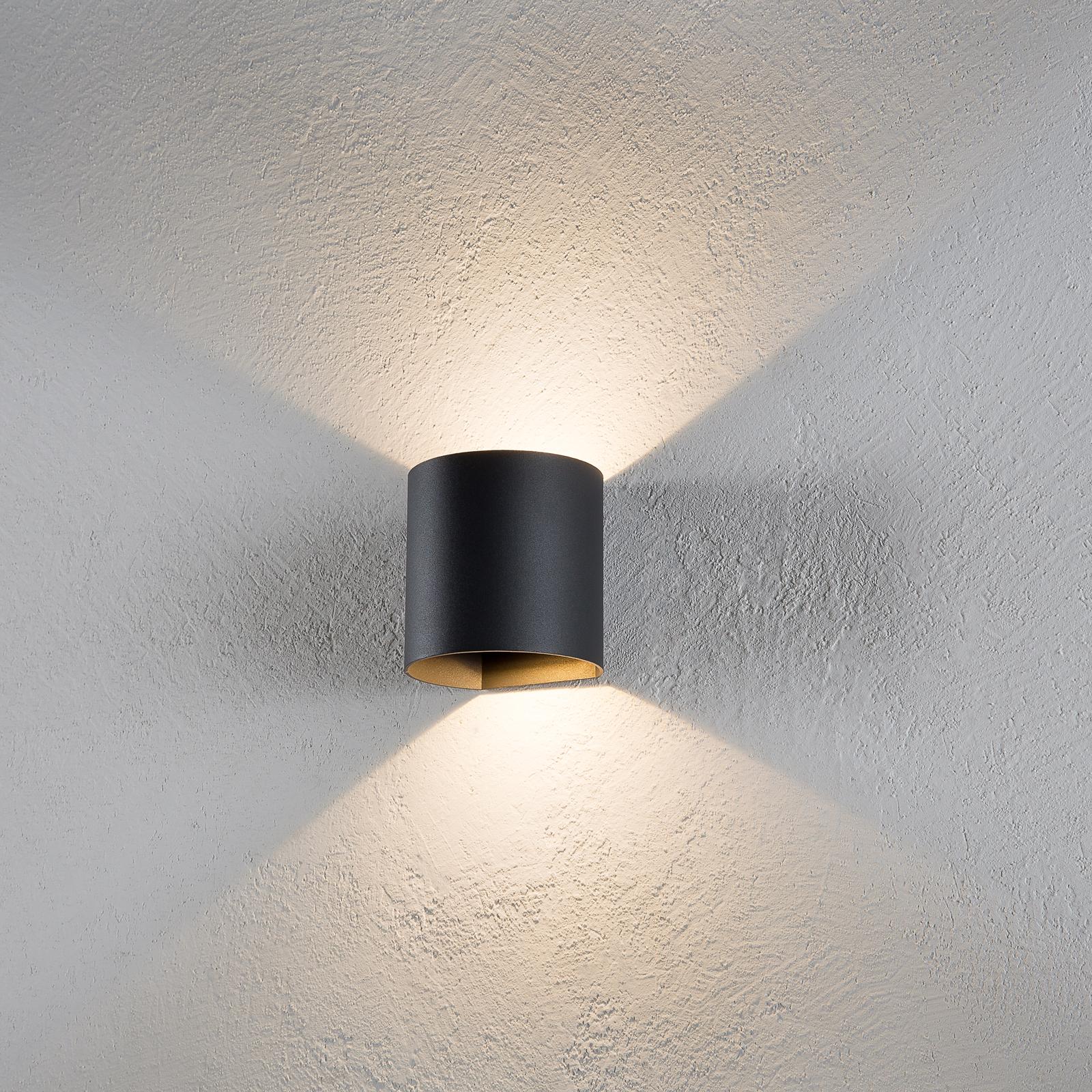 Schlichte LED-Wandlampe Dodd für außen - IP44