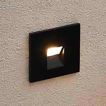 Arcchio Vexi LED inbouwlamp, hoekig, zwart