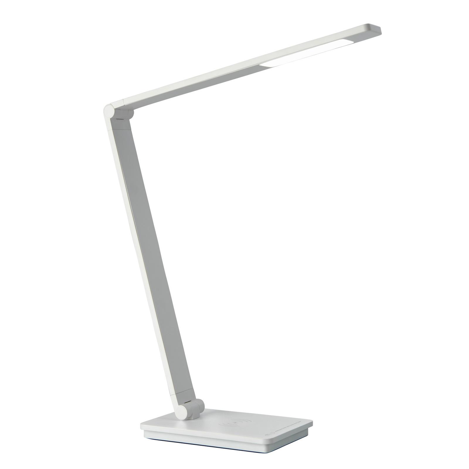 Schreibtischlampe Uli Phone, QI-Ladestation, weiß