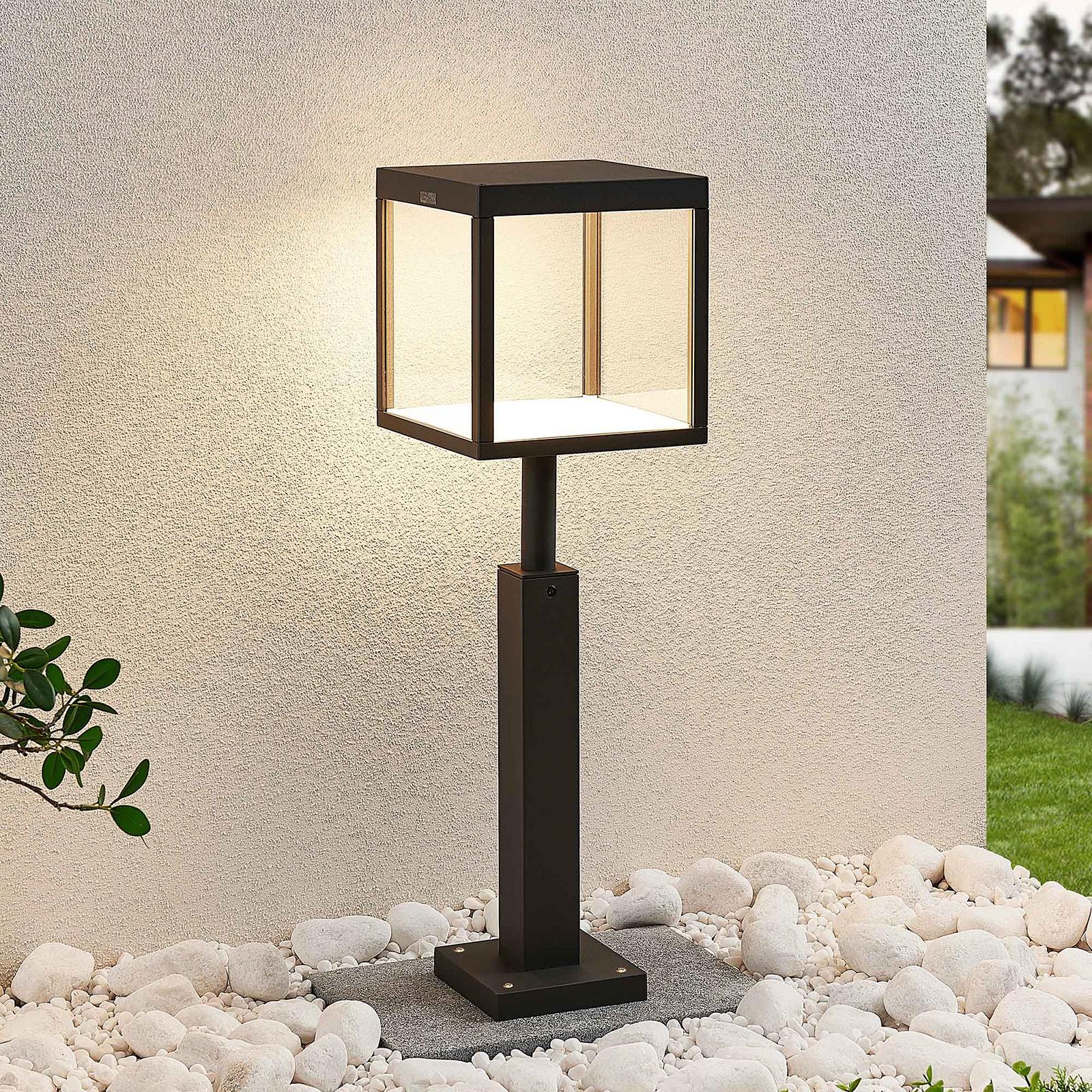 Słupek ogrodowy LED Cube, szary grafit, IP54, 60cm