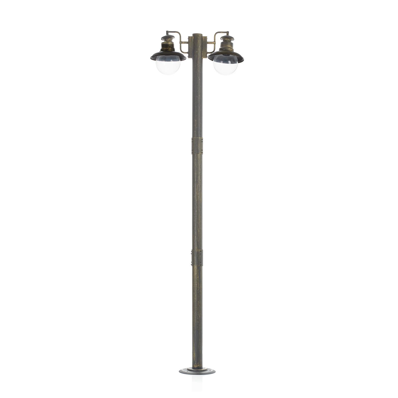 Artu - lampione a 2 lampadine in nero/oro