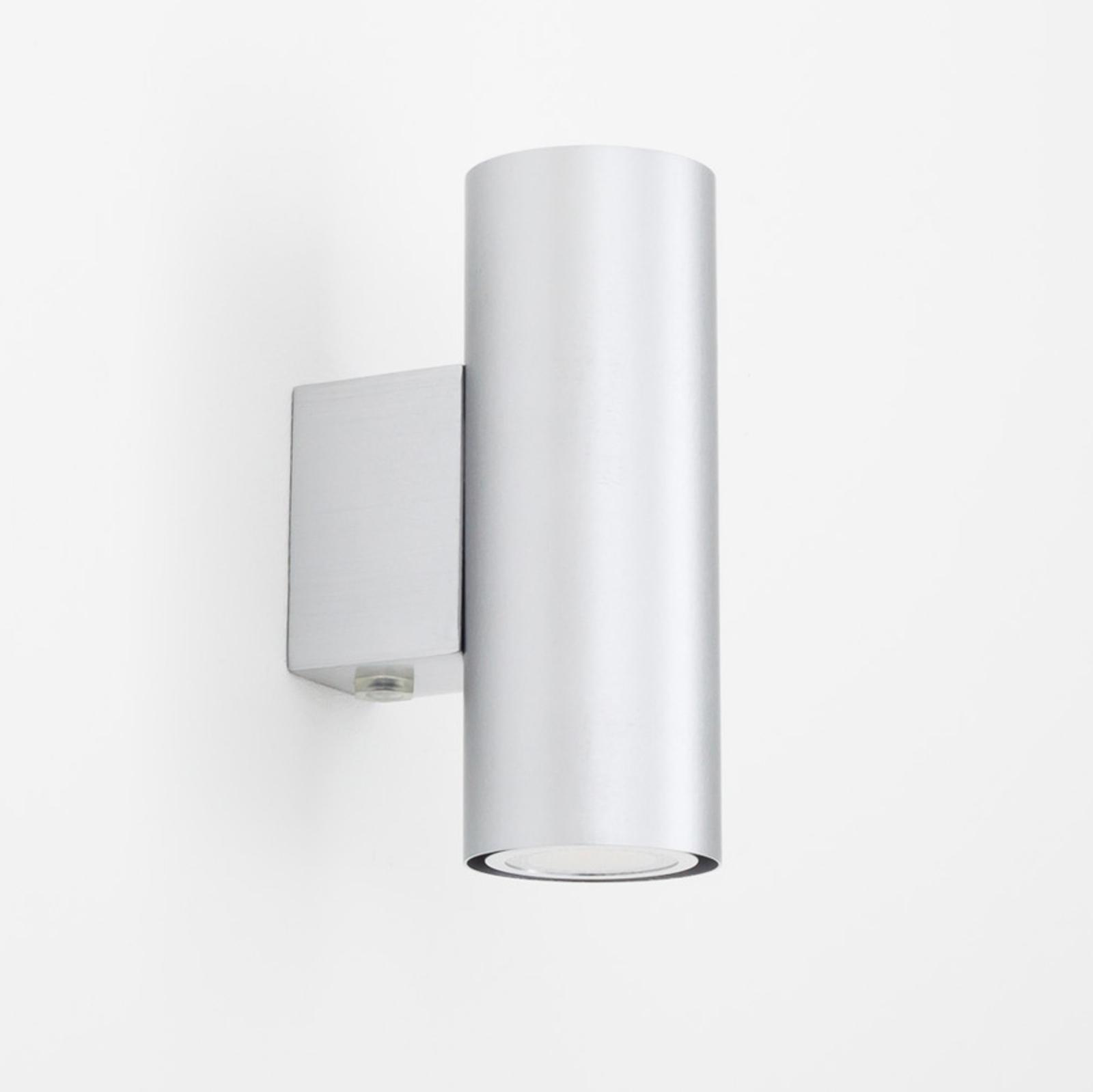 Applique LED Kabir argentée à 2 lampes