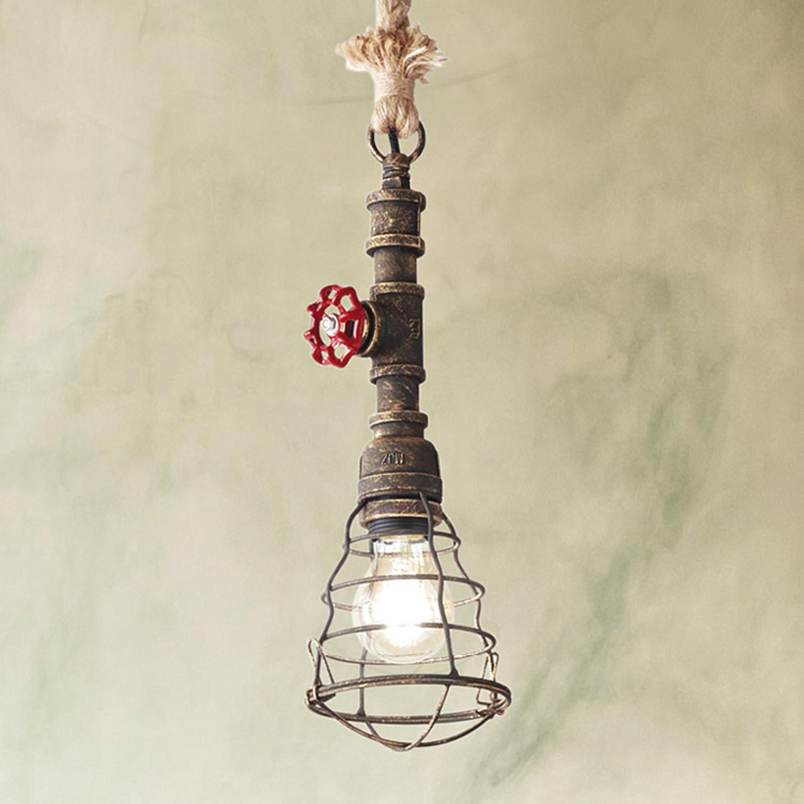 Lampa wisząca Idros z kloszem klatkowym